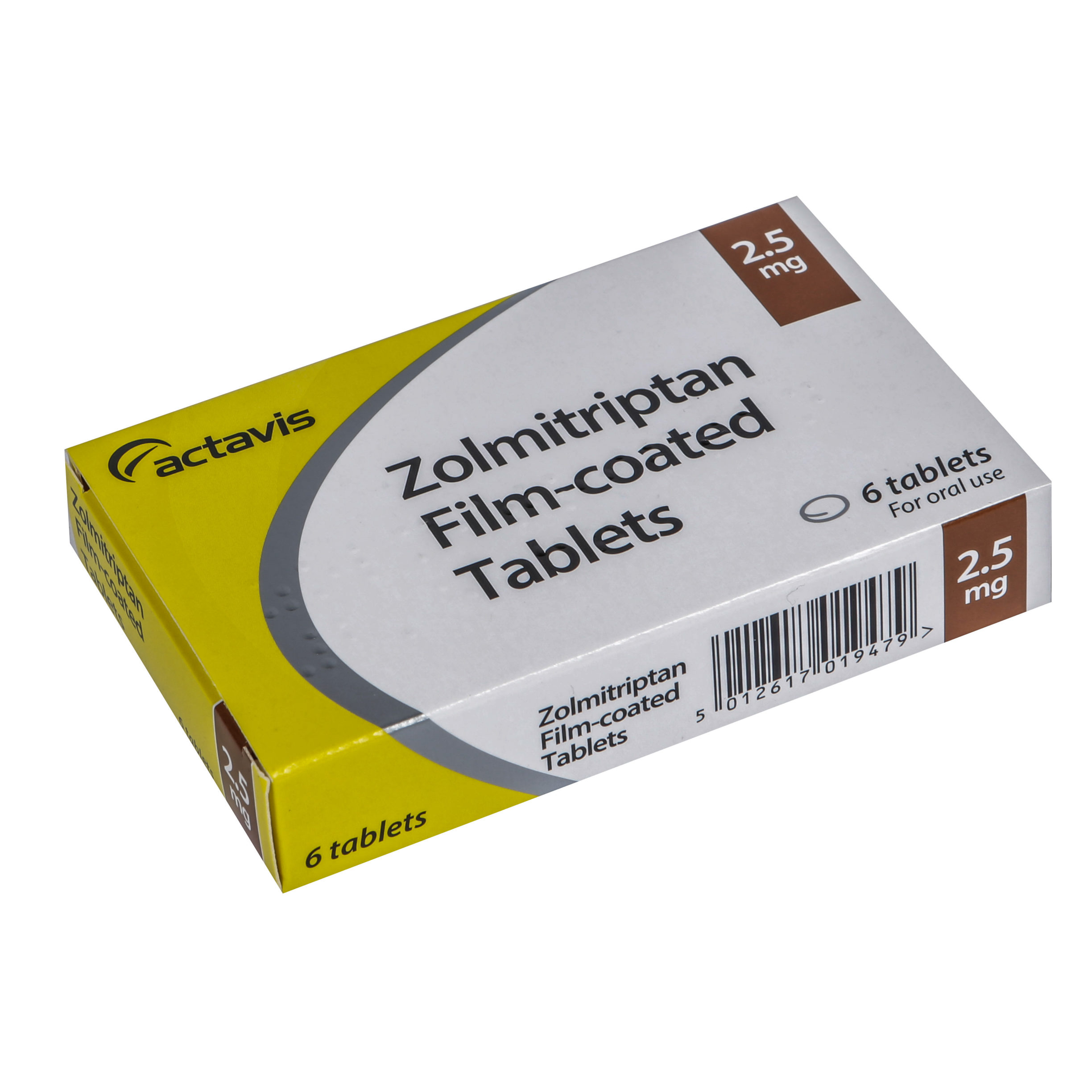 Zolmitriptan 2.5mg Pack
