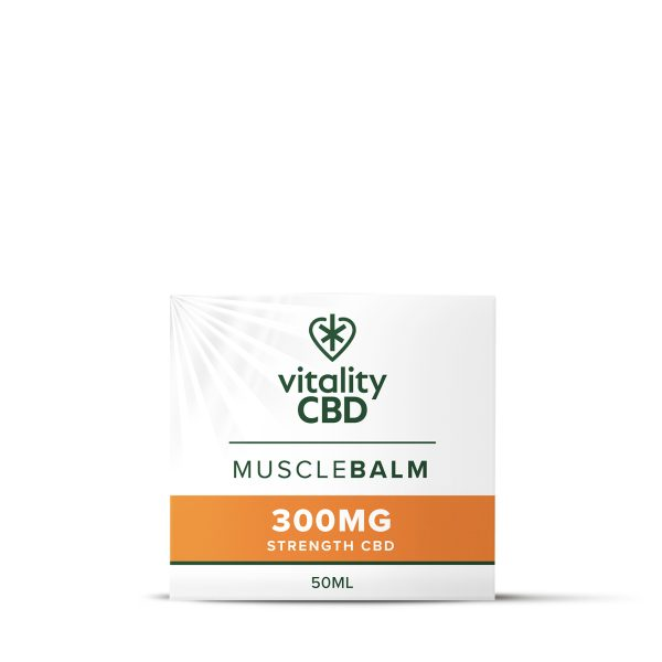 Vitality CBD Muscle Balm In Packaging