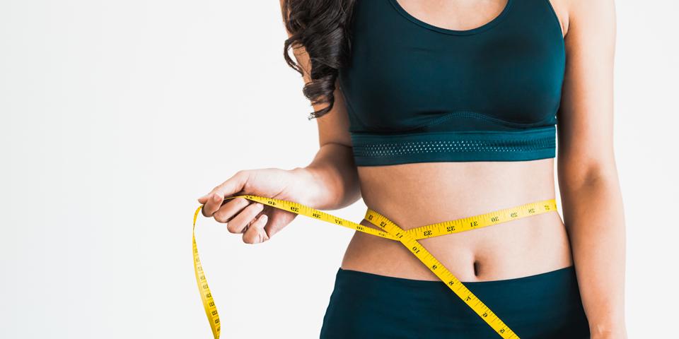 Woman Measuring waist